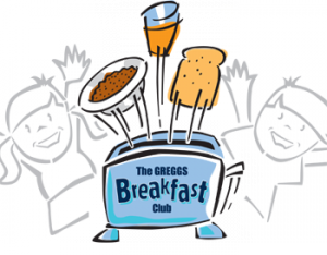 Greggs are supporting our school through the breakfast Club